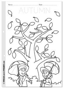 coloriage d'automne pour maternelle de la catégorie coloriage automne