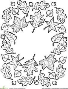 coloriage automne gs de la catégorie coloriage automne