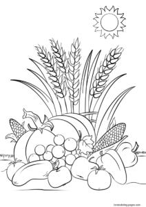 coloriage automne cp de la catégorie coloriage automne
