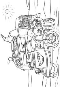 coloriage cars 3 miss fritter de la catégorie coloriage cars