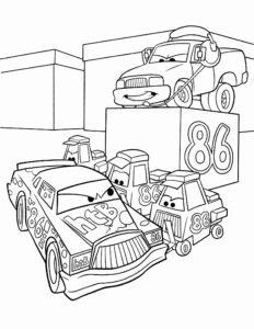 coloriage cars 1 à imprimer de la catégorie coloriage cars