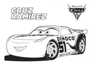 coloriage voiture de course cars 3 de la catégorie coloriage cars