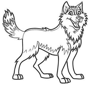 coloriage à imprimer chien husky de la catégorie coloriage chien
