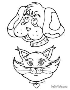 coloriage chien chat de la catégorie coloriage chien