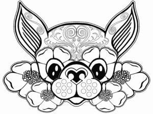 coloriage mandala chien facile de la catégorie coloriage chien