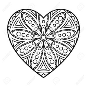 coloriage coeur mandala a imprimer de la catégorie coloriage coeur