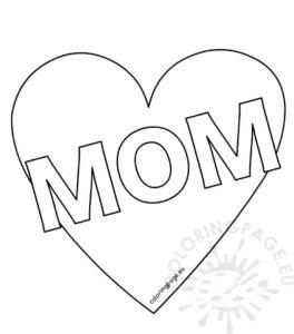 coloriage imprimer coeur pour maman de la catégorie coloriage coeur