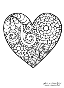 coloriage coeur à imprimer de la catégorie coloriage coeur
