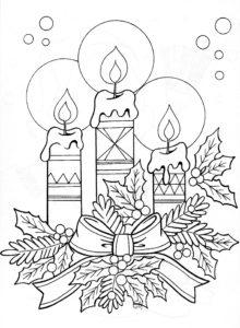 dessin de noel a colorier en ligne gratuit de la catégorie coloriage de noel