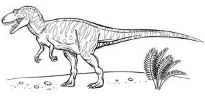 coloriage dinosaure velociraptor à imprimer de la catégorie coloriage dinosaure