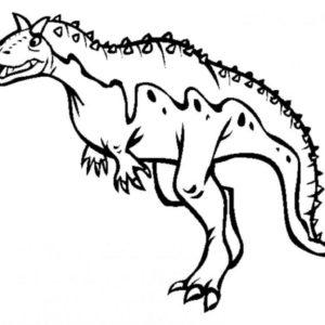 coloriage dinosaure king carnotaurus de la catégorie coloriage dinosaure