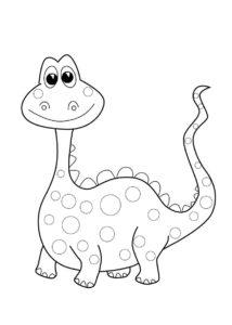 coloriage dinosaure gratuit facile de la catégorie coloriage dinosaure