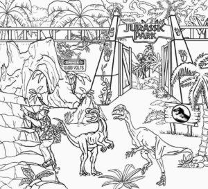 coloriage dinosaure jurassic park gratuit de la catégorie coloriage dinosaure