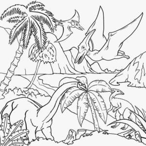 dessin dinosaure à colorier en ligne de la catégorie coloriage dinosaure
