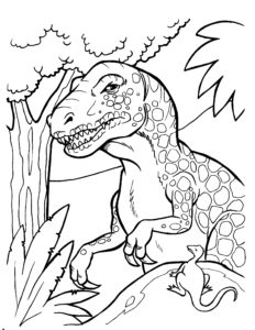 coloriage en ligne dinosaure effrayant de la catégorie coloriage dinosaure
