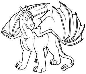 coloriage dragon 3d de la catégorie coloriage dragon