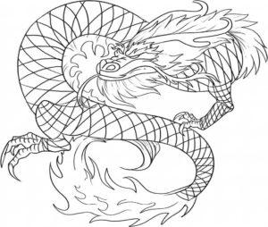 coloriage dragon chinois à imprimer de la catégorie coloriage dragon