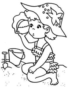 coloriage fille 4 ans en ligne de la catégorie coloriage fille