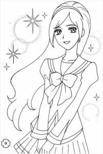 coloriage fille 10 ans manga de la catégorie coloriage fille