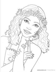 coloriage de fille ado swag à imprimer de la catégorie coloriage fille