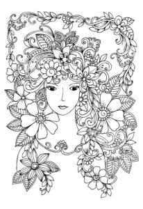 coloriage fille 10 ans mandala de la catégorie coloriage fille