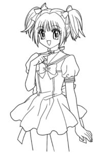 coloriage à imprimer manga pour fille de la catégorie coloriage fille