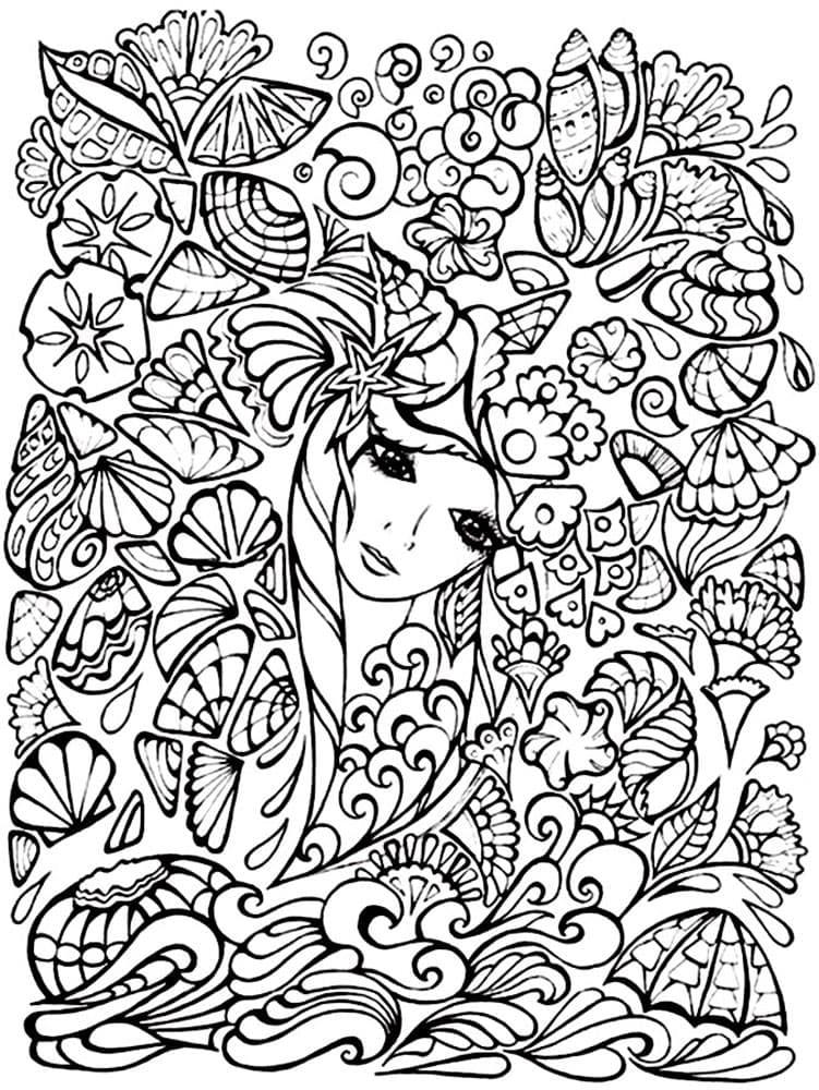 coloriage fille 8 ans mandala de la catégorie coloriage fille