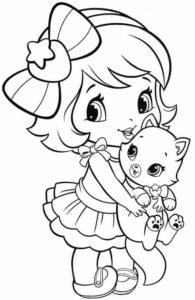 coloriage pour petite fille à imprimer de la catégorie coloriage fille