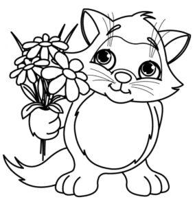 coloriage fleurs printemps de la catégorie coloriage fleur