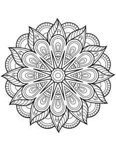 coloriage mandala fleurs à imprimer de la catégorie coloriage fleur