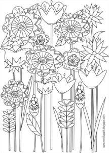 coloriage fleur rose a imprimer gratuit de la catégorie coloriage fleur