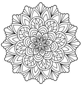 coloriage mandala fleur facile de la catégorie coloriage fleur