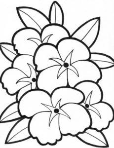 coloriage fleurs facile de la catégorie coloriage fleur