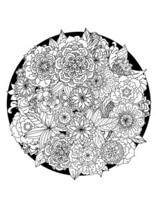 coloriage mandala fleur adulte de la catégorie coloriage fleur