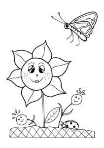 coloriage fleurs printemps maternelle de la catégorie coloriage fleur