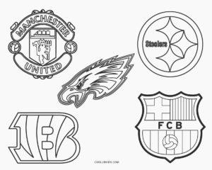 coloriage logo foot à imprimer de la catégorie coloriage foot