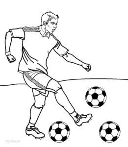 coloriage footballeur francais de la catégorie coloriage foot