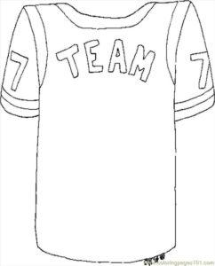 coloriage maillot de foot à imprimer de la catégorie coloriage foot
