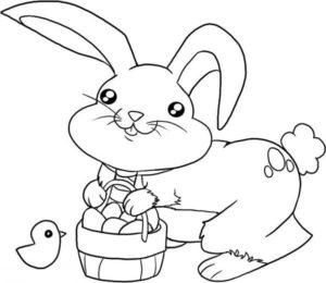 coloriage de petit lapin mignon de la catégorie coloriage lapin