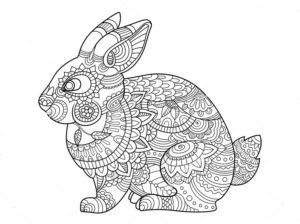 coloriage lapin mandala à imprimer de la catégorie coloriage lapin
