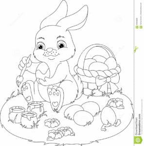 coloriage lapin et oeuf de paques de la catégorie coloriage lapin