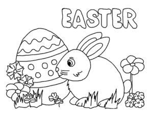 coloriage lapin de paques maternelle de la catégorie coloriage lapin