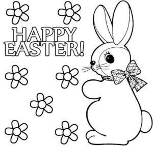 lapin de paques à colorier et imprimer de la catégorie coloriage lapin