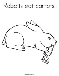 coloriage lapin mange carotte de la catégorie coloriage lapin