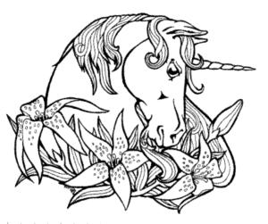 coloriage licorne de la catégorie coloriage licorne