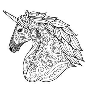 coloriage licorne kawaii mandala de la catégorie coloriage licorne