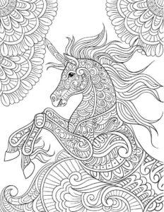 coloriage mandala licorne difficile de la catégorie coloriage licorne