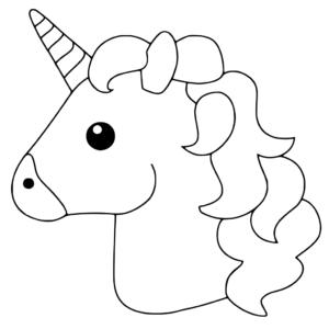 coloriage licorne emoji en ligne de la catégorie coloriage licorne