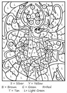 coloriage magique cp maths noel de la catégorie coloriage magique ce1