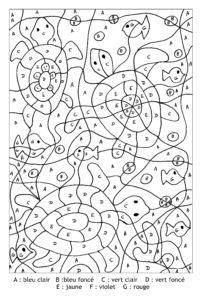 coloriage magique francais ce2 sedrap de la catégorie coloriage magique ce2